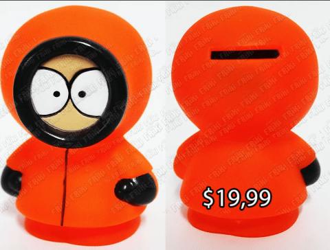 Alcancía Series SouthPark Kenny Ecuador Comprar Venden, Bonita Apariencia util, practica, Hermoso material de plastico Color naranja Estado nueva