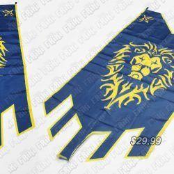 Bandera Videojuegos World of Warcraft Alianza Ecuador Comprar Venden, Bonita Apariencia, elegante y decorativa practica, Hermoso material poliester Color azul y amarillo Estado nuevo