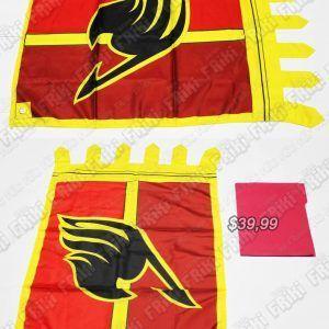 Bandera anime fairy tail Ecuador Comprar Venden, Bonita Apariencia, decorativa practica, Hermoso material poliester Color rojo y amarillo Estado nueva