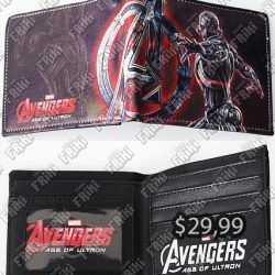 Billetera Cómics Avengers Ecuador Comprar Venden, Bonita Apariencia, practica, Hermoso material: polpiel y textil Color : Negro, rojo, gris interior negro Estado Nuevo