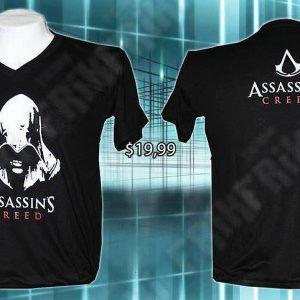 Camiseta Videojuegos Assassins Creed, Bonita Apariencia, practico, Hermoso material Poliéster, Color Negro, Estado Nuevo