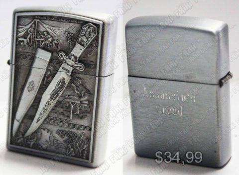 Fosforera Videojuegos Assassins Creed, Bonita Apariencia, practico, Hermoso material Metálico, Color Plateado, Estado Nuevo