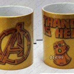 Jarro Cómics Avengers Ecuador Comprar Venden, Bonita Apariencia, práctica, Hermoso material: cerámica Color: Amarillo/Dorado Estado: Nuevo