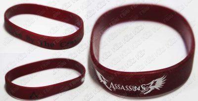 Pulsera Videojuegos Assassins Creed, Bonita Apariencia, practico, Hermoso material Plástico, Color Rojo, Estado Nuevo