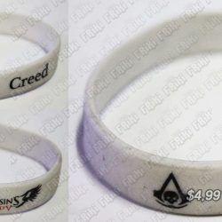 Pulsera Videojuegos Assassins Creed, Bonita Apariencia, practico, Hermoso material Plástico, Color Blanco, Estado Nuevo