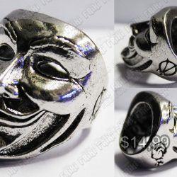 Anillo Película V de Vendetta Máscara Ecuador Comprar Venden, Bonita Apariencia ideal para los fans, practica, Hermoso material de bronce niquelado Color plateado Estado nuevo