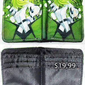 Billetera Anime Bleach Ecuador Comprar Venden, Bonita Apariencia, practica, Hermoso material de cuerina Color verde Estado nuevo