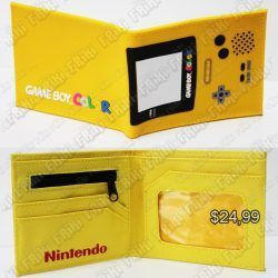 Billetera Videojuegos Consola Game Boy Color Ecuador Comprar Venden, Bonita Apariencia ideal para los fans, practica, Hermoso material de cuerina Color amarillo Estado nuevo