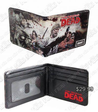 Billetera Series The Walking Dead Ecuador Comprar Venden, Bonita Apariencia perfecta para los fans de la serie, practica, Hermoso material de cuerina Color gris Estado nuevo