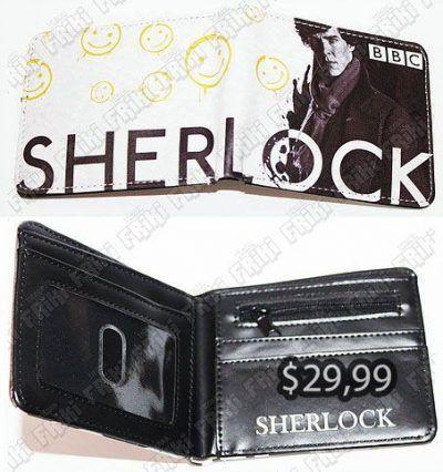 Billetera Series Sherlock Ecuador Comprar Venden, Bonita Apariencia perfecta para los fans de la serie, practica, Hermoso material de cuerina Color blanco y negro Estado nuevo