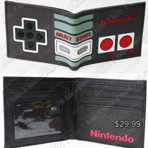 Billetera Videojuegos Consola Mando NES Ecuador Comprar Venden, Bonita Apariencia ideal para los fans, practica, Hermoso material de cuerina Color negro Estado nuevo