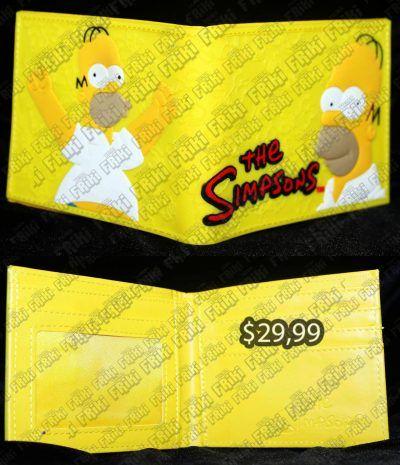 Billetera Series Los Simpsons Homero Ecuador Comprar Venden, Bonita Apariencia perfecta para los fans de la serie, practica, Hermoso material de cuerina Color amarillo Estado nuevo