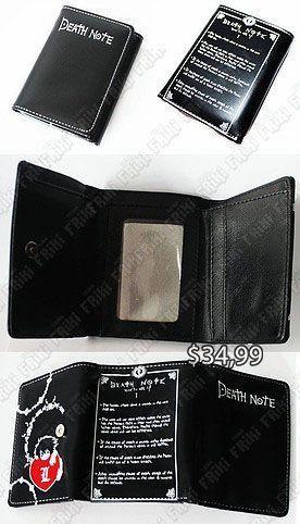 Billetera Anime Death Note Ecuador Comprar Venden, Bonita Apariencia, practica, Hermoso material de cuerina Color negro Estado nuevo