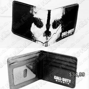 Billetera Videojuegos Call of Duty Ghost Ecuador Comprar Venden, Bonita Apariencia ideal para un gamer, practica, Hermoso material de cuerina Color negro Estado nuevo