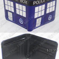 Billetera Series Doctor Who TARDIS Ecuador Comprar Venden, Bonita Apariencia perfecta para regalar a fans de la serie, practica, Hermoso material de cuerina Color azul Estado nuevo