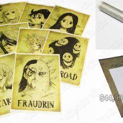 Set Posters Anime 7 Pecados Capitales Ecuador Comprar Venden, Bonita Apariencia, practica, Hermoso material papel Color como en la foto Estado nuevo