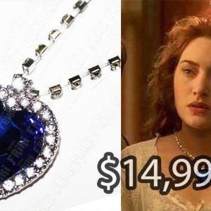 Collar Película Titanic Corazón del mar Ecuador Comprar Venden, Bonita Apariencia de corazón, practica, Hermoso material de bronce niquelado Color azul Estado nuevo