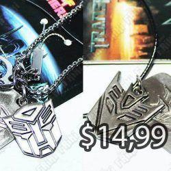 Collar Series Transformers Escudo Ecuador Comprar Venden, Bonita Apariencia perfecto para mostrar tu amor a la serie, practica, Hermoso material de bronce niquelado Color plateado Estado nuevo