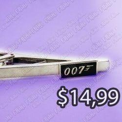 Corbatero Película Agente 007 James Bond Ecuador Comprar Venden, Bonita Apariencia plateada, practica, Hermoso material Color plata Estado nuevo