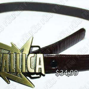 Correa Música Pop Metallica Logo Ecuador Comprar Venden, Bonita Apariencia ideal para los fans, practica, Hermoso material de cuero Color café Estado nuevo
