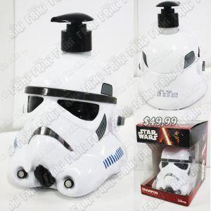 Dispensador de jabón Película Star Wars StormTrooper Ecuador Comprar Venden, Bonita Apariencia perfecta para los fans, practica, Hermoso material plástico Color blanco y negro Estado nuevo