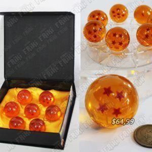 Replica Anime Dragon Ball Esferas del Dragón Comprar Venden, Bonita Apariencia perfecta para coleccionistas y fans del libro, practica, Hermoso material de cristal Color anaranjado Estado nuevo