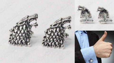 Gemelos Series Game of Thrones Stark de plata Ecuador Comprar Venden, Bonita Apariencia perfecto para los fans de la serie, practica, Hermoso material de bronce niquelado Color plateado Estado nuevos