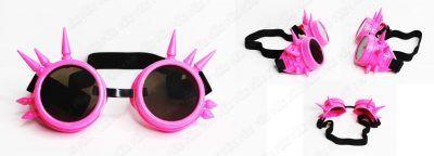 Spikes Goggles Steampunk color Rosa Ecuador Comprar Venden, Bonita Apariencia rosa, practica, Hermoso material plástico Color rosa Estado nuevo