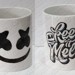 Jarro Música Electrónica Marshmello Ecuador Comprar Venden, Bonita Apariencia ideal para los fans, practica, Hermoso material de cerámica Color blanco Estado nuevo