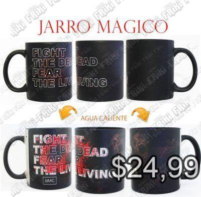 Jarro mágico Series The Walking Dead Ecuador Comprar Venden, Bonita Apariencia divertido de usar, práctica, Hermoso material de cerámica Color: negro Estado: Nuevo