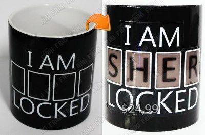 Jarro mágico Series Sherlock Logo Ecuador Comprar Venden, Bonita Apariencia divertido de usar, práctica, Hermoso material de cerámica Color: negro Estado: Nuevo
