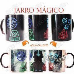 Jarro mágico Series Avatar Elementos Ecuador Comprar Venden, Bonita Apariencia divertida de usar, practica, Hermoso material de cerámica Color negro Estado nuevo