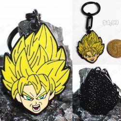 Llavero Anime Dragon Ball Cabeza Goku Super Saiyan Ecuador Comprar Venden, Bonita Apariencia perfecto para decorar tus pertenencias, practica, Hermoso material de bronce niquelado Color negro Estado nuevo