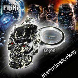 Llavero Película Terminator Skull Ecuador Comprar Venden, Bonita Apariencia ideal para los fans, practica, Hermoso material plástico Color plateado Estado nuevo