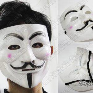 Máscara Película V de Vendetta Ecuador Comprar Venden, Bonita Apariencia ideal para los fans, practica, Hermoso material plástico Color blanco Estado nuevo