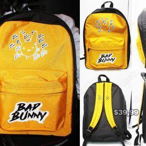 Mochila Música Pop Bad Bunny Ecuador Comprar Venden, Bonita Apariencia ideal para los fans, practica, Hermoso material de polipropileno Color naranja Estado nuevo