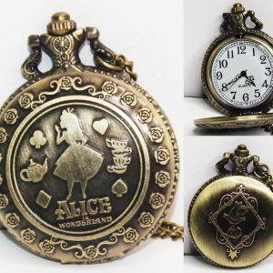 Reloj de collar Película Alicia en el país de las maravillas Ecuador Comprar Venden, Bonita Apariencia dorada, practica, Hermoso material de bronce niquelado Color dorado Estado nuevo
