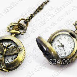 Reloj Libros Los Juegos del Hambre Ecuador Comprar Venden, Bonita Apariencia, practica, Hermoso material bronce Color dorado Estado nuevo