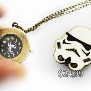 Reloj de Collar Película Star Wars Stormtrooper Ecuador Comprar Venden, Bonita Apariencia ideal para los fans, practica, Hermoso material de bronce niquelado Color blanco Estado nuevo