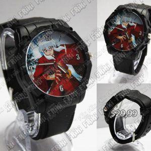 Reloj de pulsera Anime Inuyasha Ecuador Comprar Venden, Bonita Apariencia ideal para los fans, practica, Hermoso material de acero inoxidable Color negro Estado nuevo