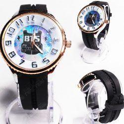 Reloj de pulsera Música Kpop BTS Ecuador Comprar Venden, Bonita Apariencia ideal para los fans, practica, Hermoso material de acero inoxidable Color negro Estado nuevo
