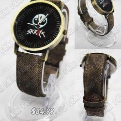 Reloj de pulsera Música Electrónica Skrillex Ecuador Comprar Venden, Bonita Apariencia ideal para los fans, practica, Hermoso material de acero inoxidable Color café Estado nuevo