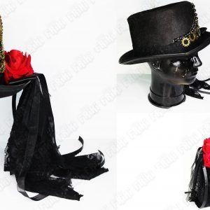Sombrero Steampunk Negro Steam Ecuador Comprar Venden, Bonita Apariencia de engranajes, practica, Hermoso material Color negro Estado nuevo