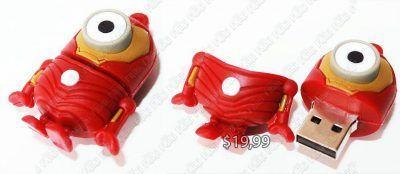 USB Película Mi Villano Favorito Minion Iron Man Ecuador Comprar Venden, Bonita Apariencia perfecta para los fans, practica, Hermoso material plástico Color como en la imagen Estado nuevo
