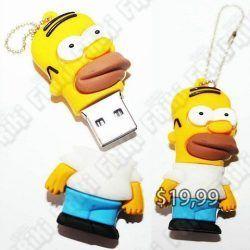 USB Series Los Simpsons Homero Ecuador Comprar Venden, Bonita Apariencia perfecto para trabajos, practica, Hermoso material de plástico Color amarillo Estado nuevo