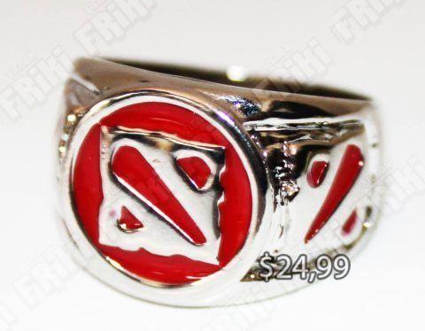 Anillo Videojuego Dota Logo Ecuador Comprar Venden, Bonita Apariencia de anillo con logo de Dota, practica, Hermoso material de bronce niquelado Color plata Estado nuevo
