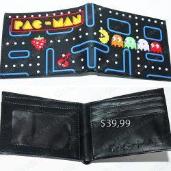Billetera Videojuego Pacman Logo Ecuador Comprar Venden, Bonita Apariencia ideal para los fans, practica, Hermoso material de cuerina Color como en la imagen Estado nuevo