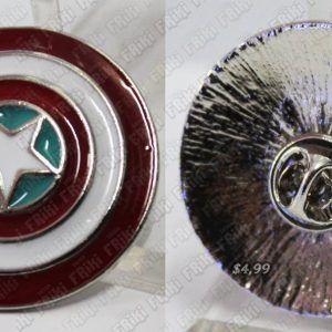 Broche Cómics Capitán América Ecuador Comprar Venden, Bonita Apariencia, elegante y perfecto para los fans de la serie, practica, Hermoso material de bronce niquelado Color como en la foto Estado nuevo