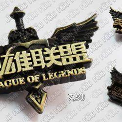 Broche Videojuego League of Legends Logo Ecuador Comprar Venden, Bonita Apariencia del logo de LoL, practica, Hermoso material de bronce niquelado Color dorado Estado nuevo