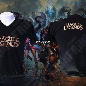 Camiseta Videojuegos League of Legends Logo Ecuador Comprar Venden, Bonita Apariencia del logo de LoL, practica, Hermoso material de poliéster Color negro Estado nuevo